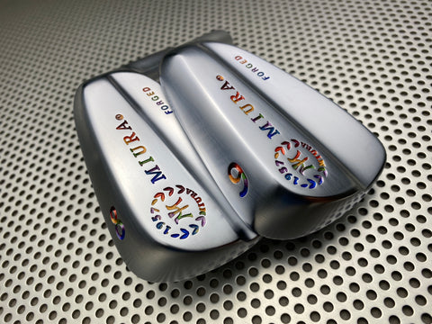 Miura Golf Irons Baby Blades Chromatic Paint Fill