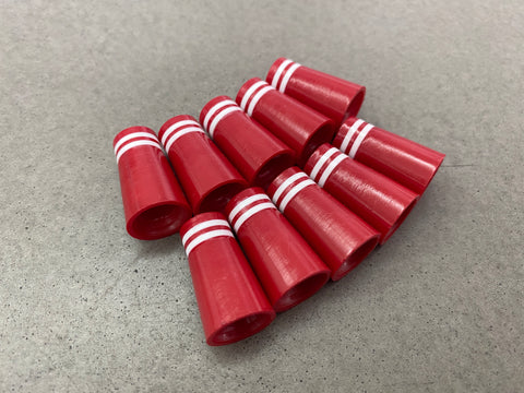 Miura Golf Baby Blade Ferrules Set of 10 Red with White Stripes