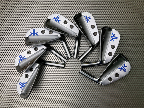 Kyoei Golf Iron Dual Weighted Pearl Blue and Gradient Logo Paint Fill