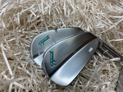 Fujimoto Golf Iron FT-1 MB Tiffany Blue 4 to P with Satin Wedges
