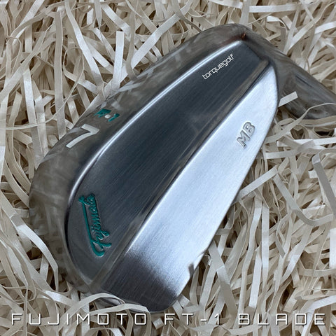 Fujimoto Irons FT-1 MB Tiffany Blue 4 to P with Satin Wedges - torque golf