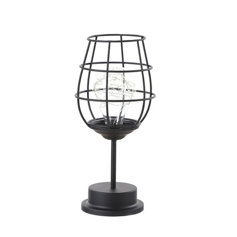 Retro Iron Wire Table Lamp