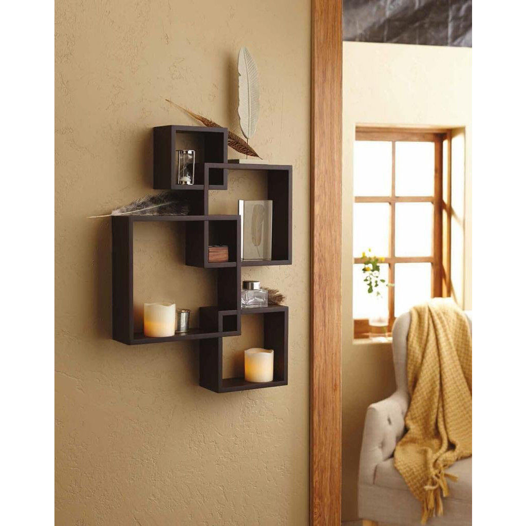 Intersecting Squares Floating Wall Shelf