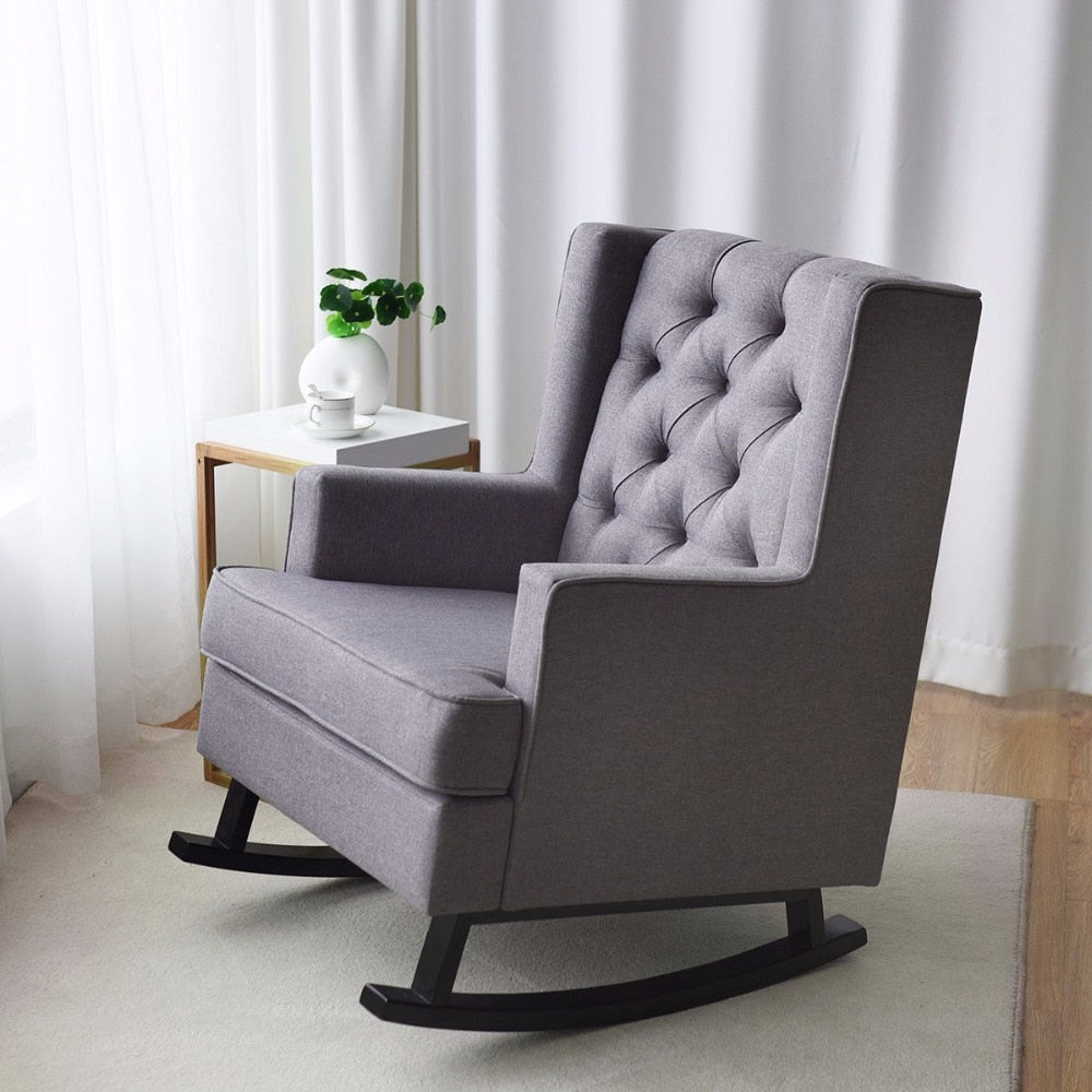 Classy Button-Tufted Rocking Chair