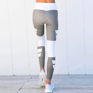 Gray + White Patterned Leggings