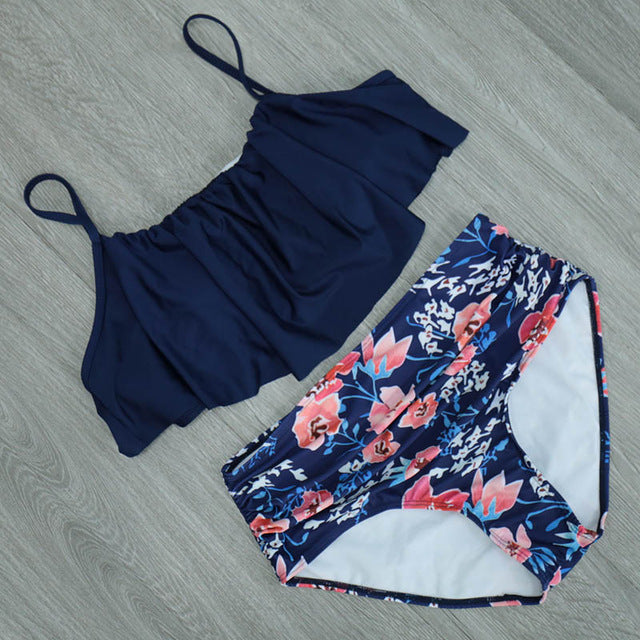 Frilly Two-Piece Swimsuit