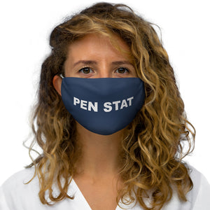 Pen Stat V2 Text Face Mask - Navy