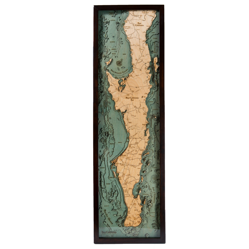 Baja California Wood Chart
