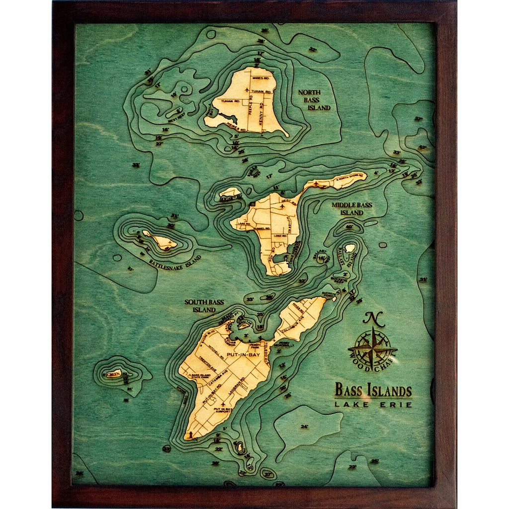 Bass Islands Wood Chart