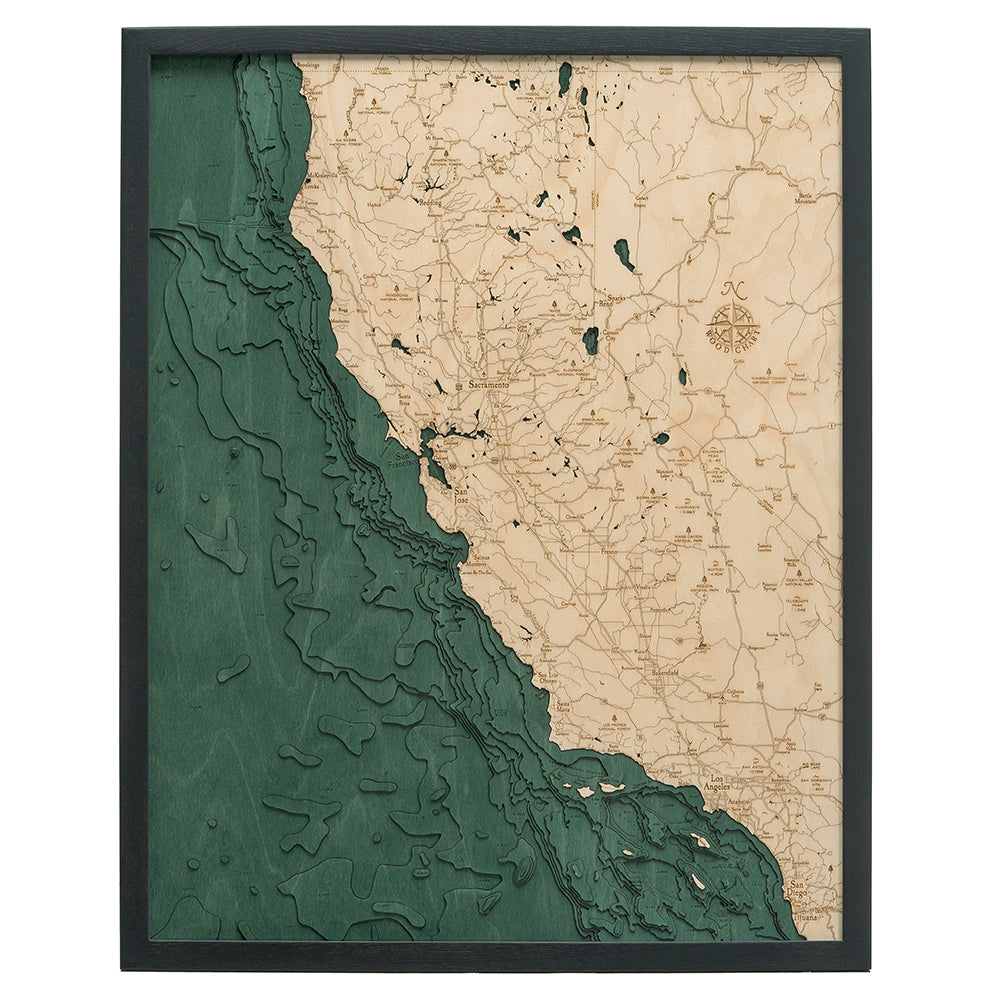 California Coast Wood Chart