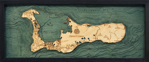 Grand Cayman Wood Chart