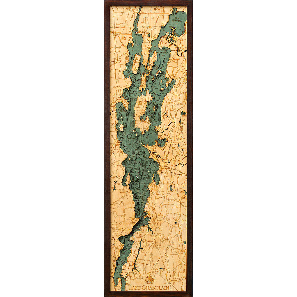 Lake Champlain Wood Chart