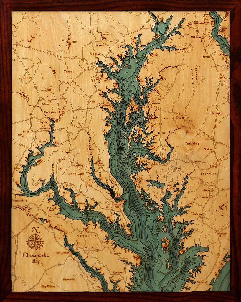 Chesapeake Bay On Map Of Usa.Below The Boat Chesapeake Bay