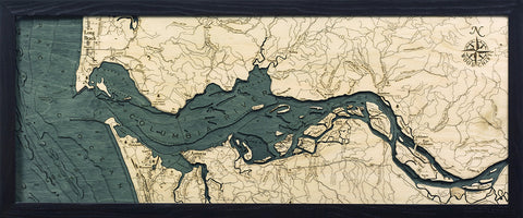 Columbia River Mouth Wood Chart