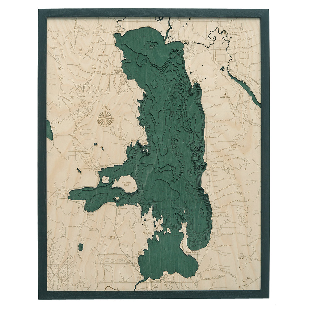 Flathead Lake Wood Chart