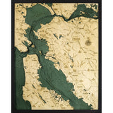 San Francisco Bay Wood Chart