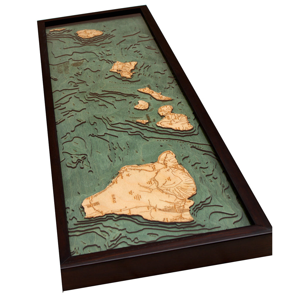 Hawaiian Islands Wood Chart