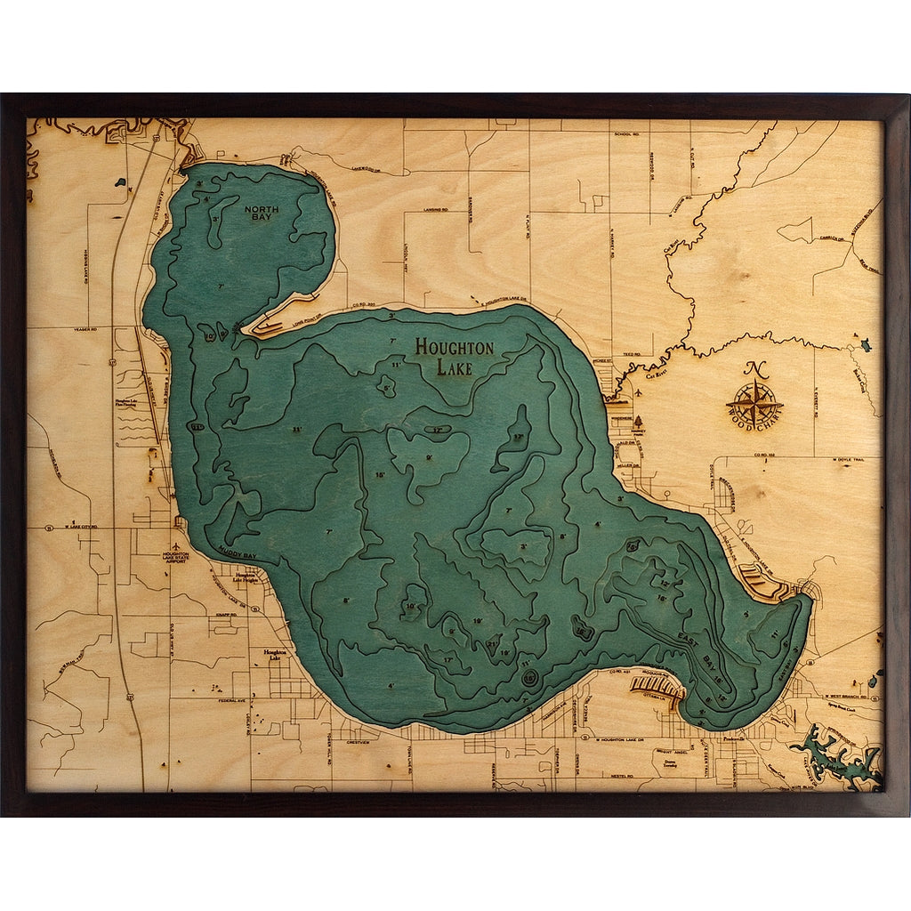 Houghton Lake Wood Chart