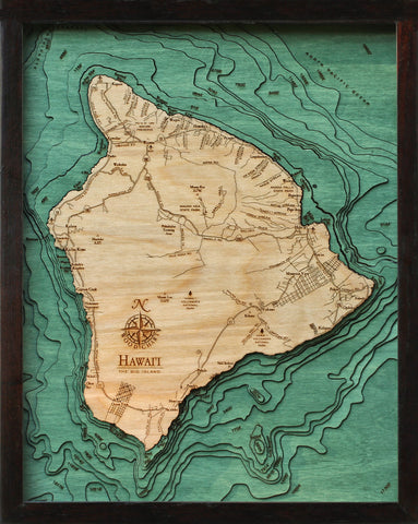 The Big Island (Hawaii) Wood Chart