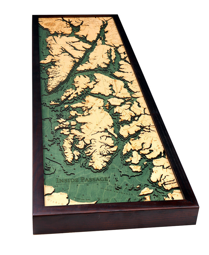 Inside Passage Wood Chart