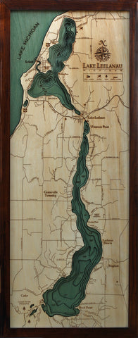 Lake Lelanau Wood Chart