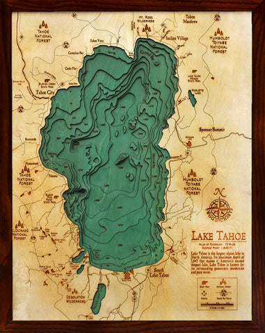 Lake Tahoe Wood Chart