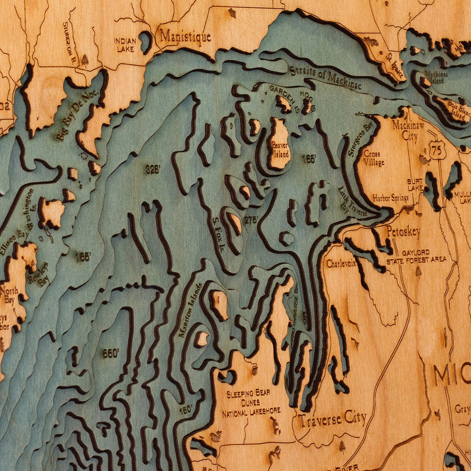 Lake Michigan Wood Chart
