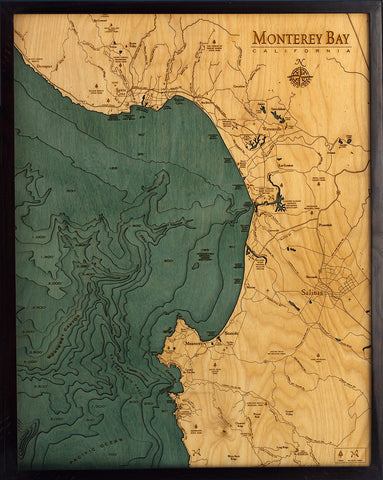 Monterey Bay Wood Chart