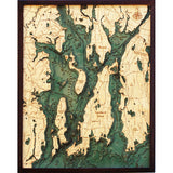 Narragansett Bay Wood Chart