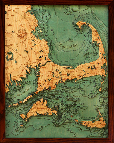 Chesapeake Bay Topographic Map.Below The Boat Below The Boat Wood Charts