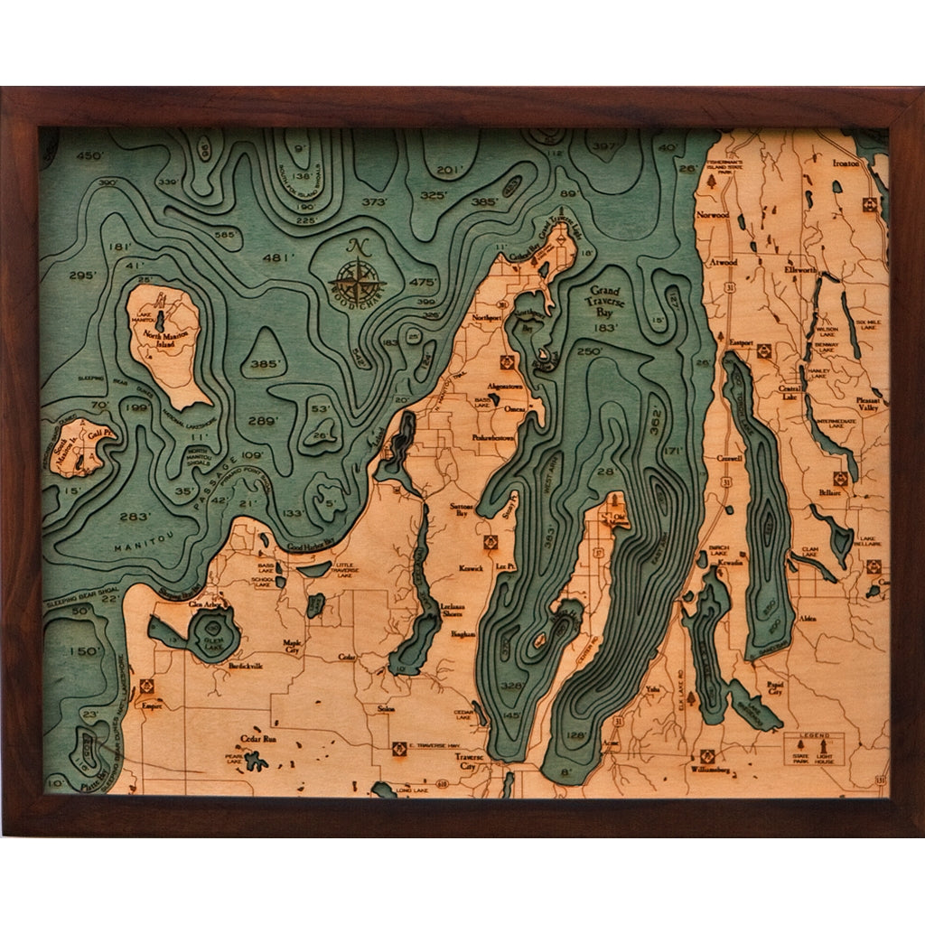 Grand Traverse Bay Wood Chart