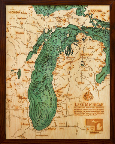 Lake Michigan - 16x20 Wood Chart