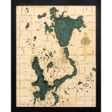 Lake Okoboji Wood Chart