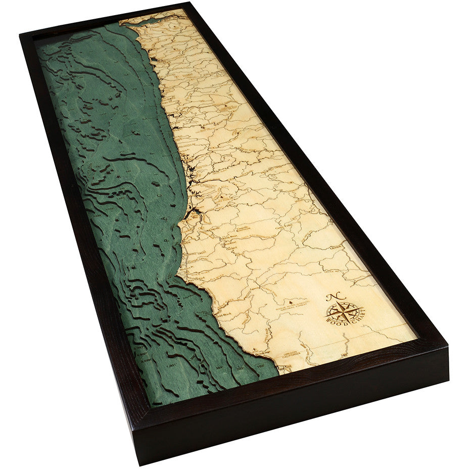 Oregon Coast Wood Chart