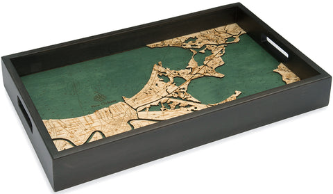 New Orleans Serving Tray Wood Chart