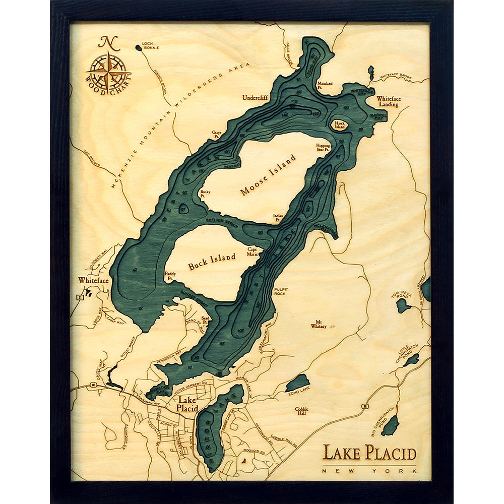 Lake Placid Wood Chart