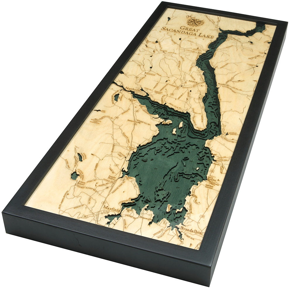 Great Sacandaga Lake Wood Chart