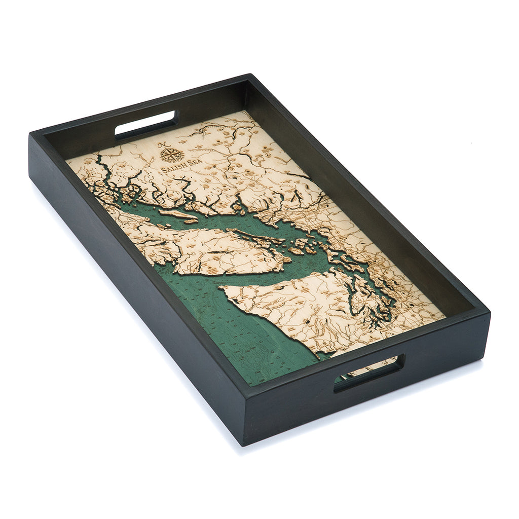 Salish Sea Serving Tray Wood Chart