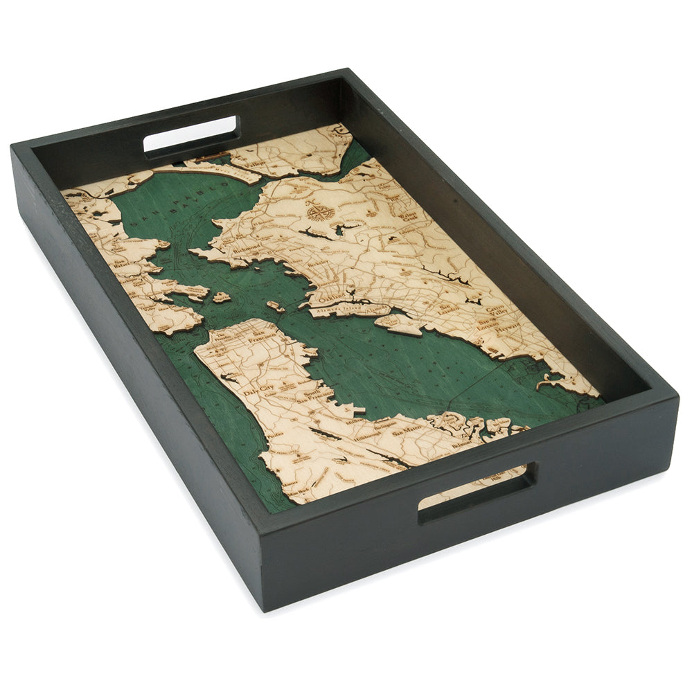 San Francisco Serving Tray Wood Chart