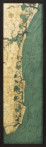 New Jersey South Shore Wood Chart