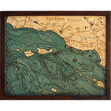 Santa Barbara & Channel Islands Wood Chart