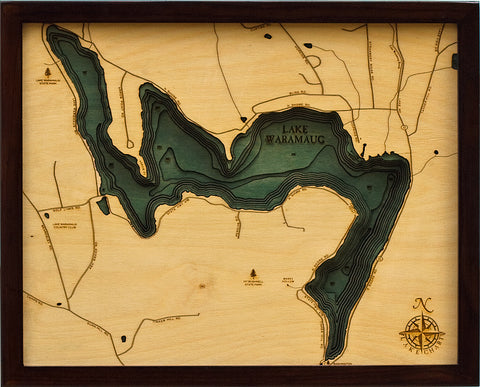 Lake Waramaug Wood Chart