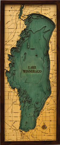 Lake Winnebago Wood Chart
