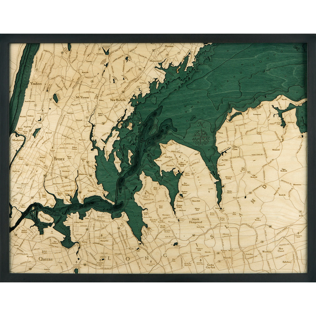West Long Island Sound Wood Chart