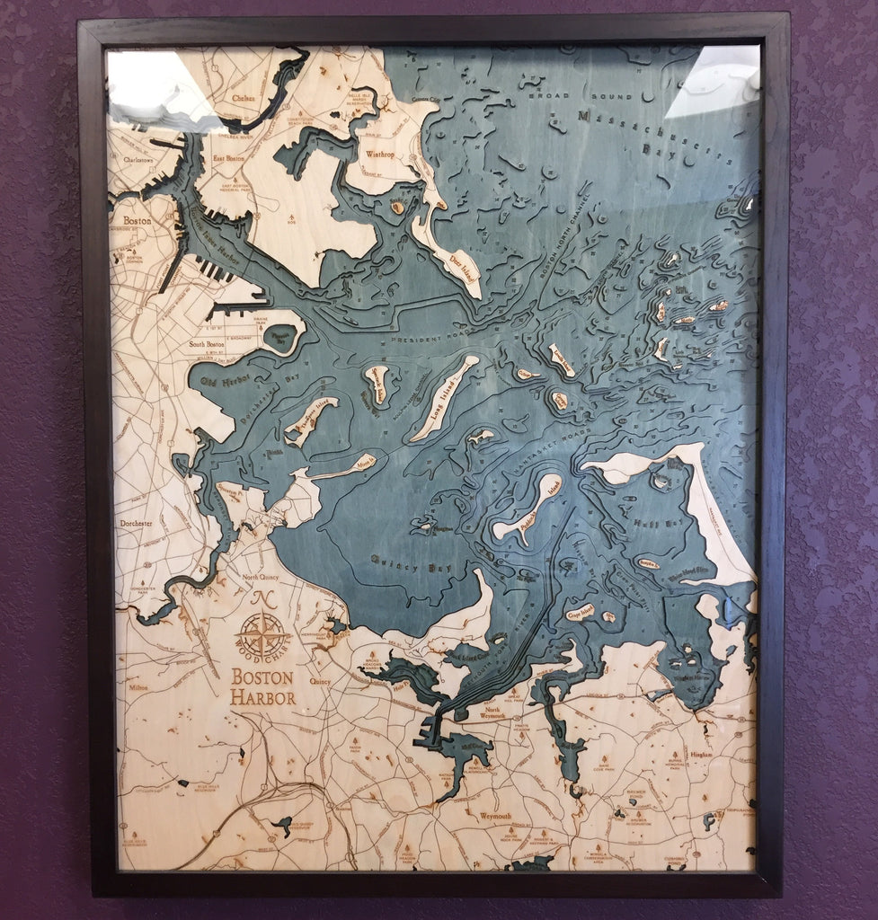 Boston Harbor Wood Chart