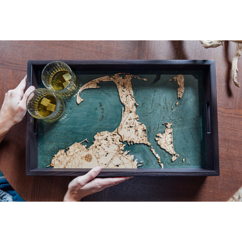 Cape Cod Serving Tray Wood Chart