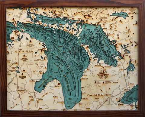 Lake Huron Wood Chart