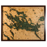 Lake Winnipesaukee Wood Chart