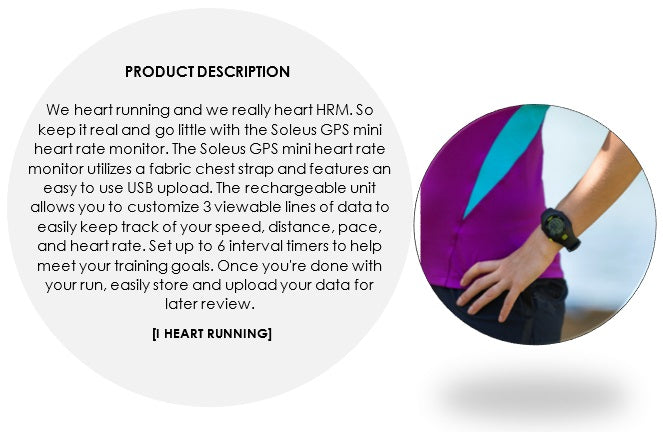 soleus gps mini product description