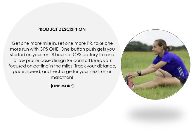soleus gps one product description